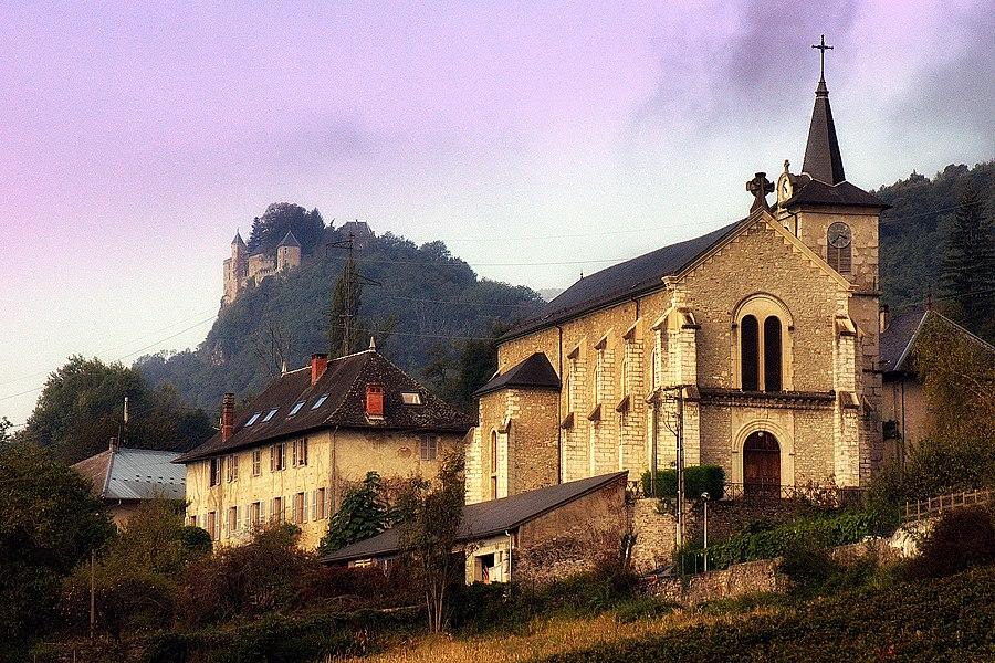 Eglise de Fréterive et Chateau de Miolans (Savoie)