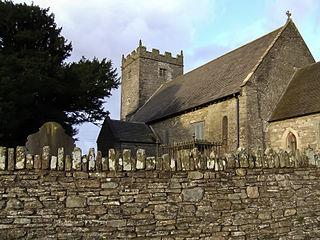 Eglwysilan village in Wales