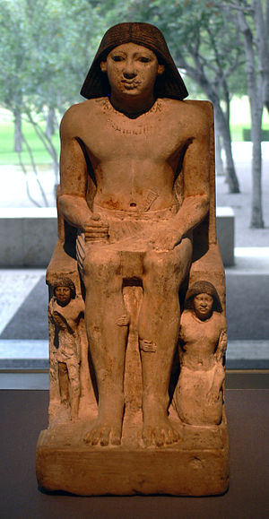 Kanefer (High Priest of Ptah) - Kanefer with his son and wife