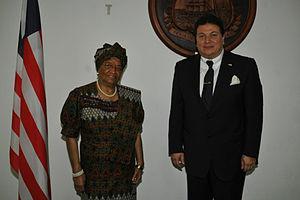 Maher El-Adawy - Ambassador El-Adawy with Liberian President Ellen Johnson Sirleaf.
