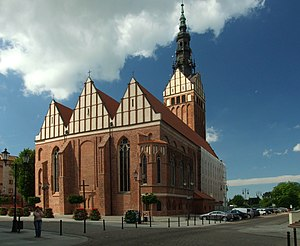 St. Nicholas Cathedral, Elbląg - Image: Elbląg, Stary Rynek, pohled na katedrálu svatého Mikuláše