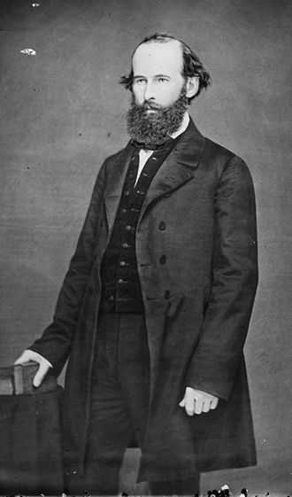 Lawrence, Kansas - Lawrence was founded by settlers affiliated with the New England Emigrant Aid Company, headed by Eli Thayer, a Republican in the United States House of Representatives (pictured).