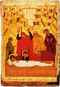Entombment of Christ (15th century, Tretyakov gallery).jpg