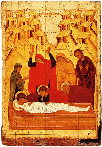 Resurrection of Jesus - Lamentation at the Tomb, 15th century.