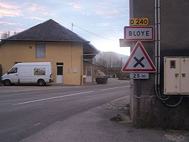 The main road into Bloye