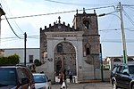 Entrance of the San Jose parish church in Ciudad Hidalgo, Michoacan