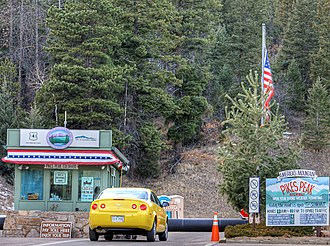 Pikes Peak Highway - Entrance to the Pikes Peak Highway