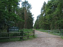 Entrance to Thurlbear Wood (geograph 1920235).jpg