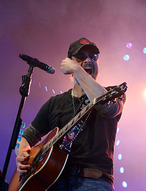 Eric Church - Church performing live at GNA's Countryfest at the Times Union Center, Albany, New York, July 7, 2012