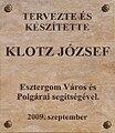 Esztergom Klotz tabla.JPG