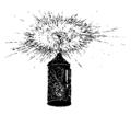 Ett hem Carl Larsson svartvit teckning 04.png
