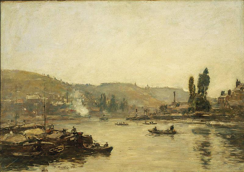 File:Eugène Boudin - La Seine à Rouen.jpg