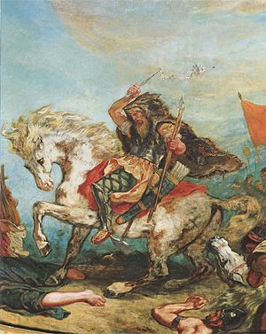 Attila - Allegorical depiction by Eugène Delacroix (1843–1847)