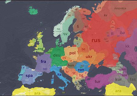 es la lengua de que paises de europa: