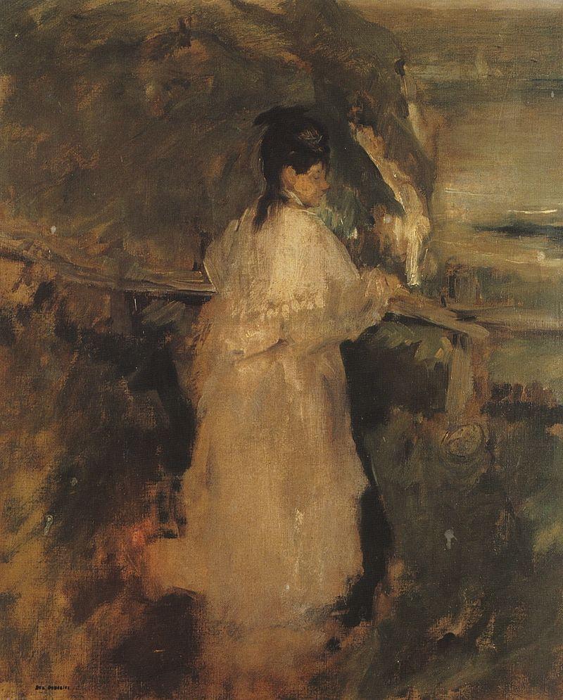 Eva Gonzalès - Femme sur la falaise.jpg