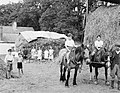 Evacuees from Deptford Park School in London on a farm in Pembrokeshire during 1940. D974.jpg
