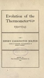 Evolution of the thermometer