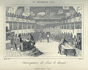 Trial of Louis XVI - Louis being cross-examined by the Convention.