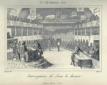 Jugement de Louis XVI par la Convention Nationale dans la Salle du    Legislative Assembly French Revolution