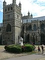 Exeter Cathedral and statue of Richard Hooker - geograph.org.uk - 241951.jpg