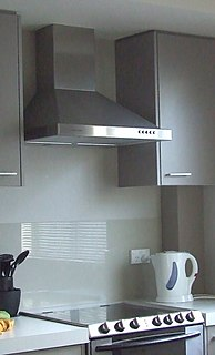 Kitchen hood Type of home appliance that clears smoke from a stove