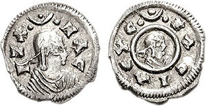 Ethiopian historiography - A silver coin of the Axumite king Ezana, mid-4th century AD