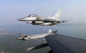Two Republic of Korea Air Force Lockheed F-16C...