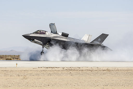 F-35B at Edwards AFB in July 2014