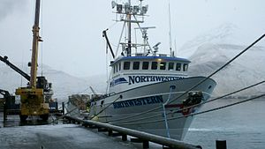 FV Northwestern docked at the Trident shore plant in Akutan, Alaska.jpg