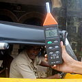 Faiz Abdulali recording noise from Traffic in Mumbai.JPG