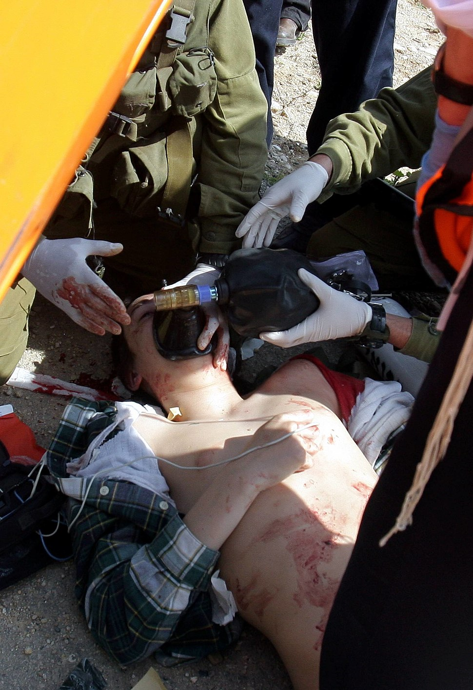 Fatally wounded Israeli school boy