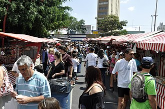 Liberdade street market - Liberdade street market entrance