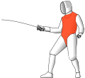 Fencing foil valid surfaces 2009.svg