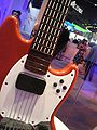 Fender Mustang Pro Guitar Controller (body) for Rock Band 3 @ E3 Expo 2010.jpg