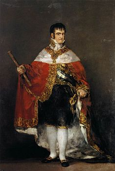 Ferdinand VII of Spain in his robes of state by Goya.jpg