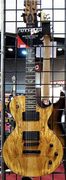 File:Fernandes Monterey Deluxe (Spalted Maple), 2010 Summer NAMM.jpg