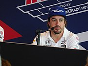Fernando Alonso 2017 Indianapolis 500 press conference.jpg