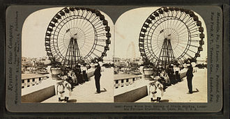 Ferris Wheel - Stereoscopic card showing the Ferris Wheel at the 1904 World's Fair, St. Louis