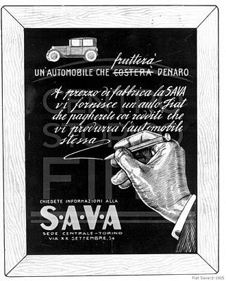 FCA Bank - Image: Fiat Sava 2 1925