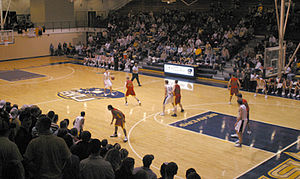 Buena Vista University - A Beaver basketball game in progress.