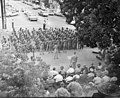 File-Welcome Home Ceremony for 489th Reserve Unit; crowd gathered in front of Administration-building, cars on street and parked in (069c6b6e-718a-4b4d-8d61-6037c3d0bd82).jpg