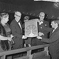 Filmweek in Arnhem geopend door minister Vrolijk in Rembrandttheater, minister V, Bestanddeelnr 917-8631.jpg