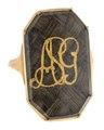 Fingerring av guld med hårmatta och monogram, 1800-tal - Hallwylska museet - 110219.tif