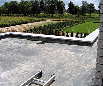 EPDM rubber - An EPDM rubber roof