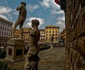 Firenze - Florence - Piazza della Signoria - Entrance to Palazzo Vecchio - ICE Photocompilation Viewing from NW to North.jpg