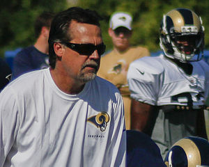 Jeff Fisher - Fisher at Rams Training Camp, 2013.