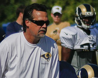Jeff Fisher - Fisher at Rams Training Camp in 2013