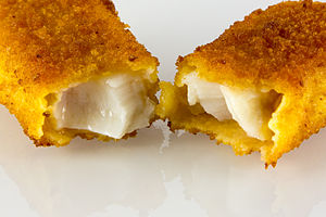 Fish finger - Filling inside a fish finger