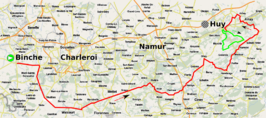 Routekaart Waalse Pijl 2017