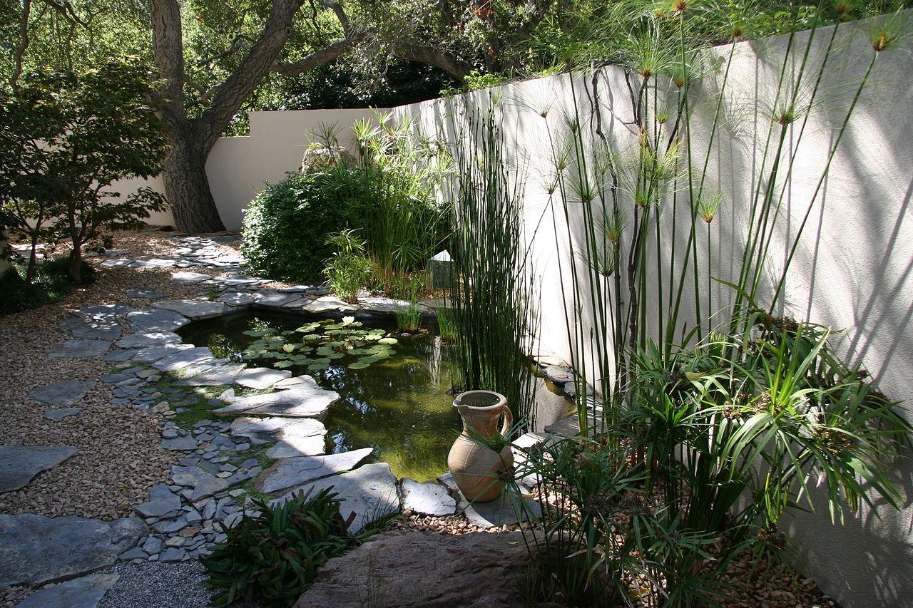 construction d un bassin de jardin avec cascade